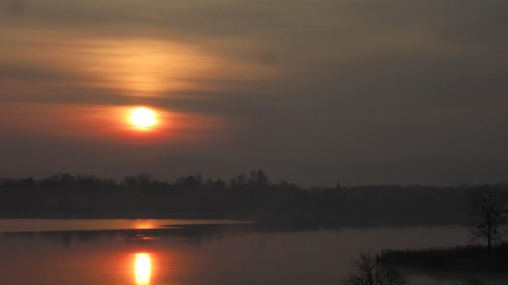 Sunrise over Chiemsee.