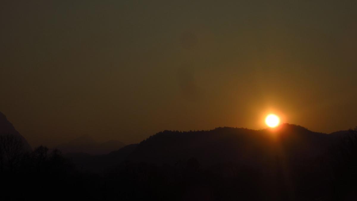 Sunset in Bad Reichenhall.