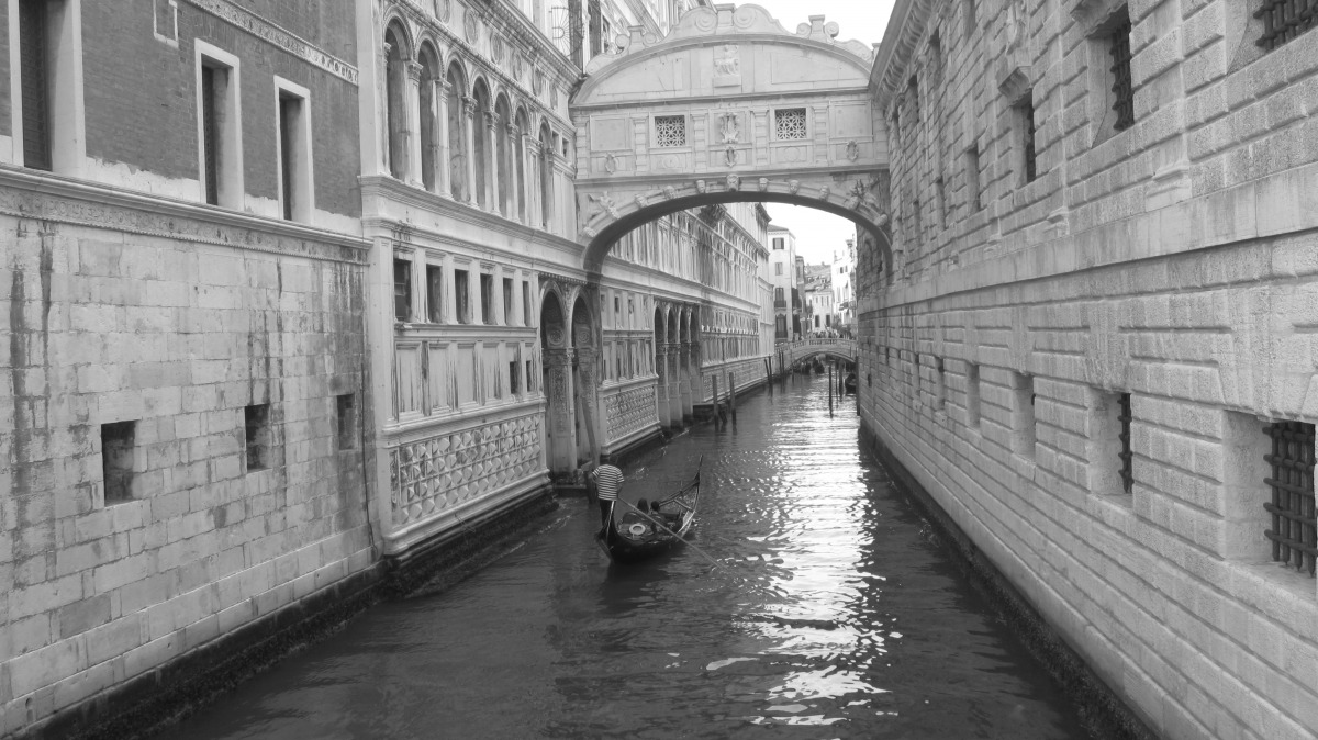 Venice In Black And White.