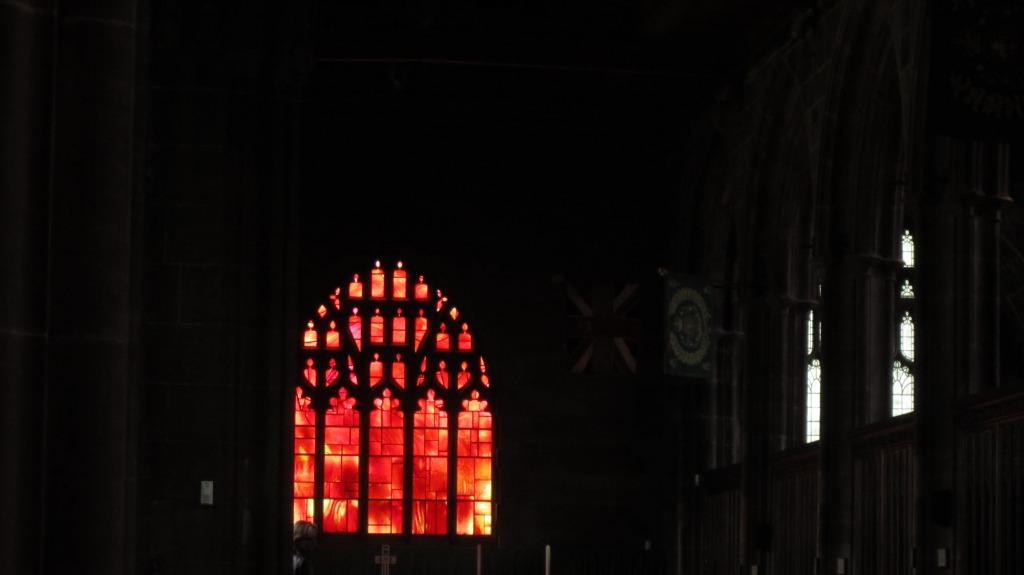 Stained Glass Window in The Cathedral/ Manchester.