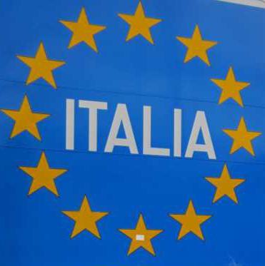 Bella Italia- Grenzschild...