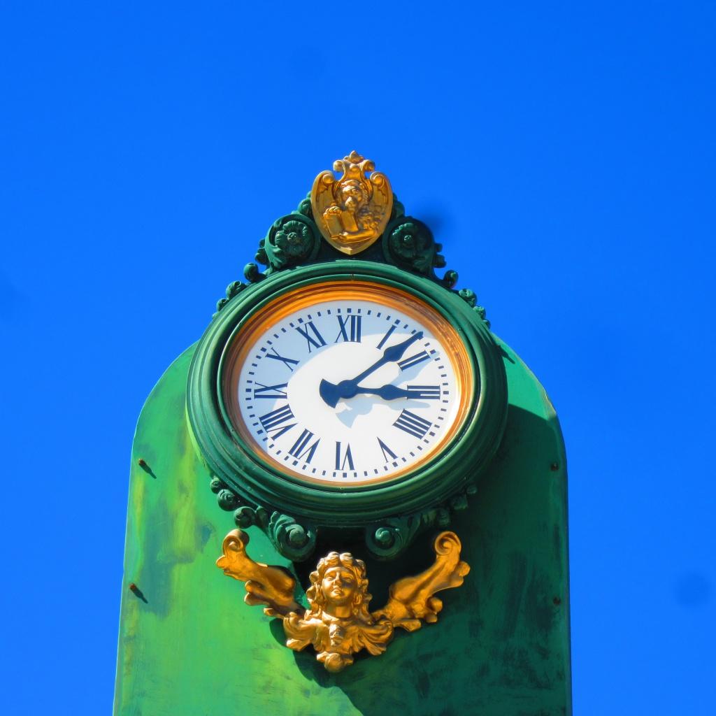 Die Uhr auf Murano, Italien.