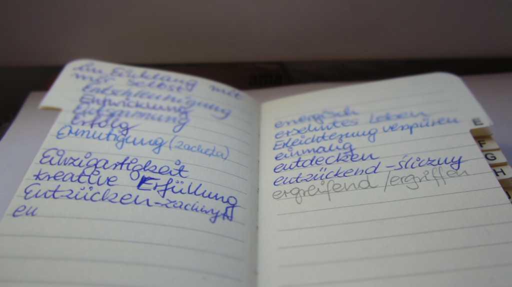 Adressbuch der schönen Worte.