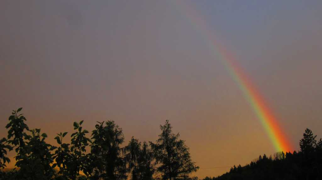 Regenbogen nach dem Wärmegewitter...