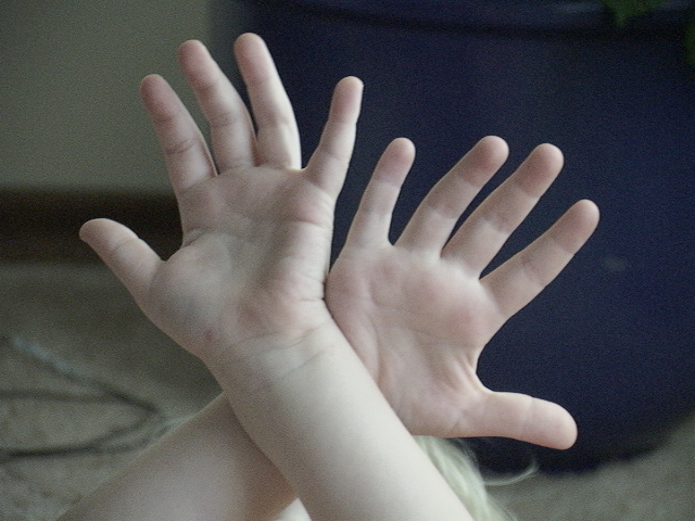Hands Of  A  Child.
