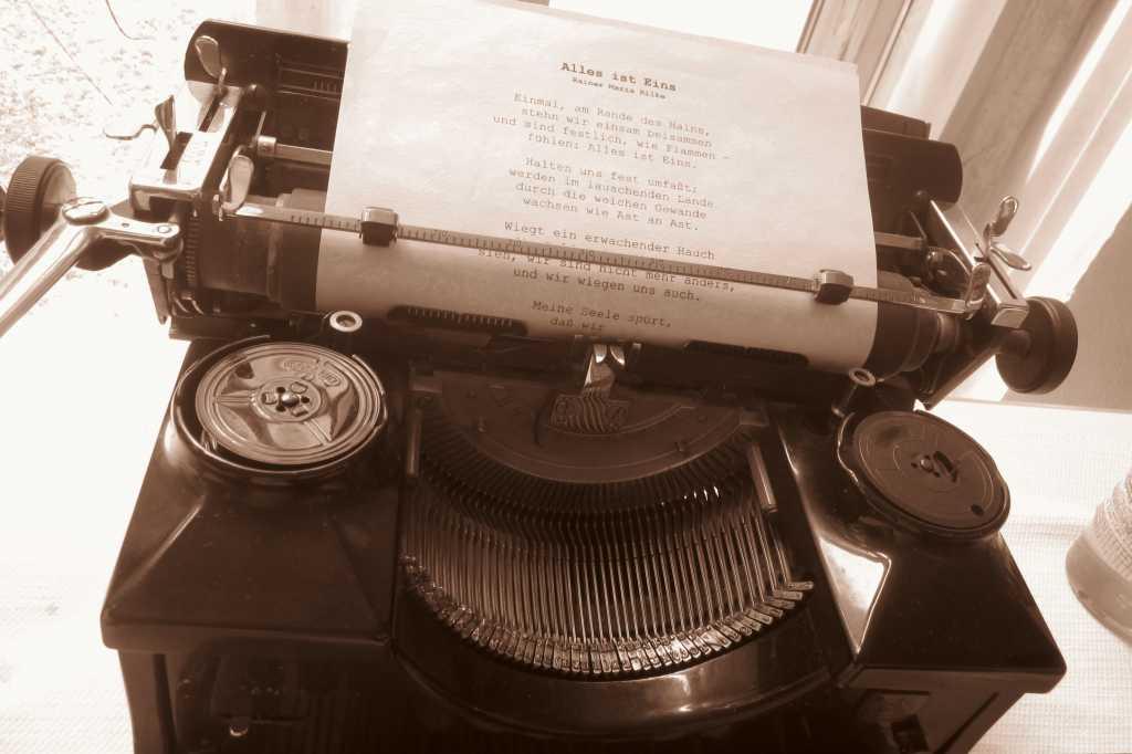 Liebesgedicht und eine Schreibmaschine...